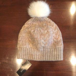 WHBM Women's Pom Pom Winter Hat